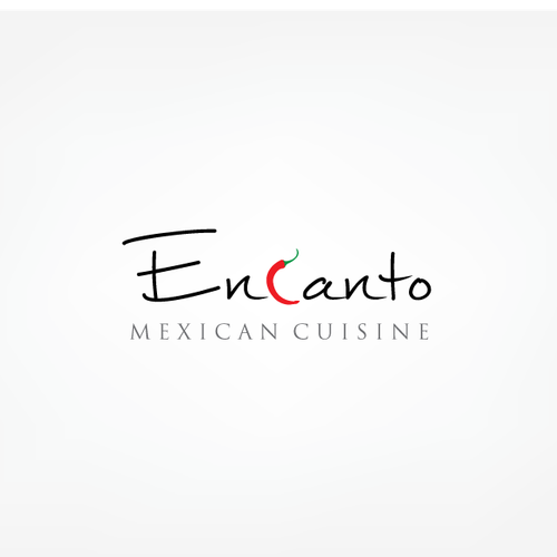 Chili pepper logo with the title 'Mexican restaurant'