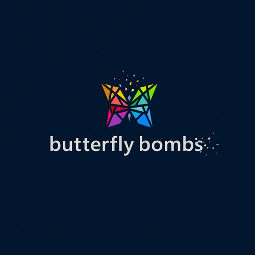 LAN logo with the title '«Butterfly Bombs» music logo'