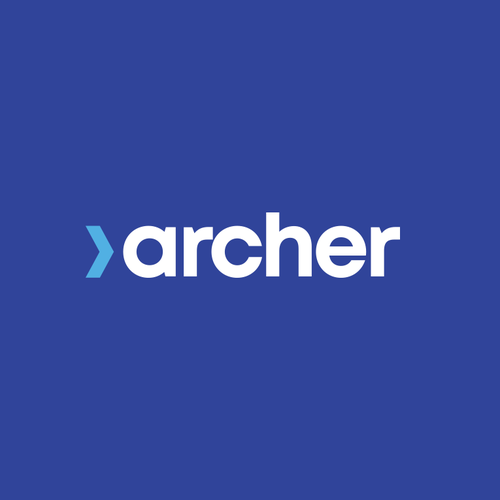 Archery design with the title 'Archer Education Logo '