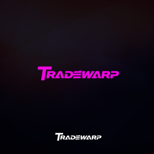 Cyberpunk design with the title 'Tradewarp Neon Logo'