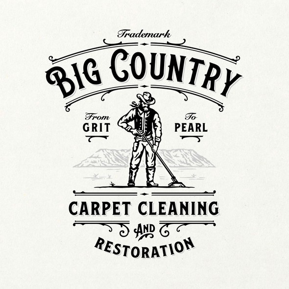 Cowboy design with the title 'Big Country Cleaning Co.'