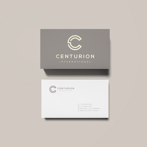 Classy brand with the title 'Centurion International - Logo & Business Card Design'