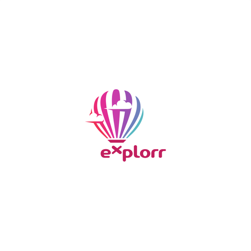 Explorer logo with the title 'Concept for Explorr Logo Project.'