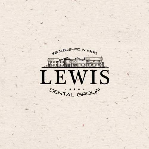 Farmhouse design with the title 'Lewis Dental Group'