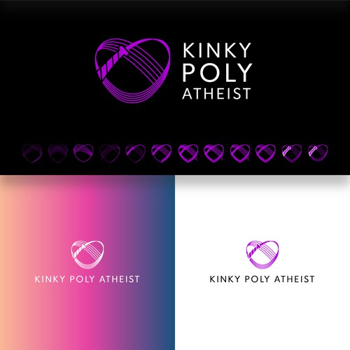 Twist design with the title 'Kinky Poly Atheis'