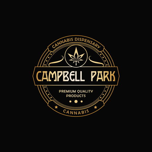 Dispensary logo with the title 'Logo for a dope new Cannabis Dispensary in St. Albert Alberta .'