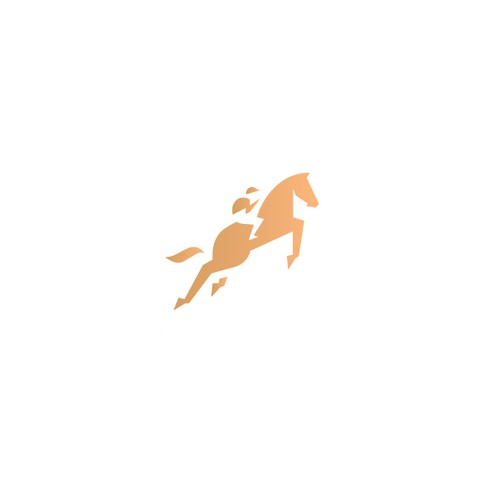Dynamic brand with the title 'Abstract horse riding logo design'