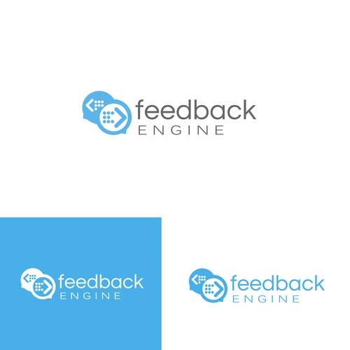 Feedback logo with the title 'App Logo Design'