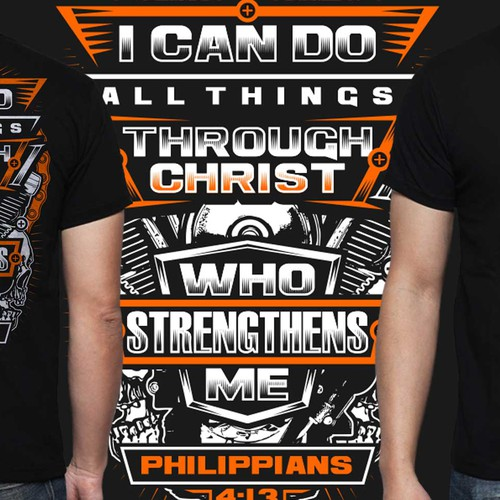 Bike t-shirt with the title 'CHRISTIAN QUOTE BIKER'