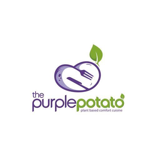 Vegetarian logo with the title 'The Purple Potato'