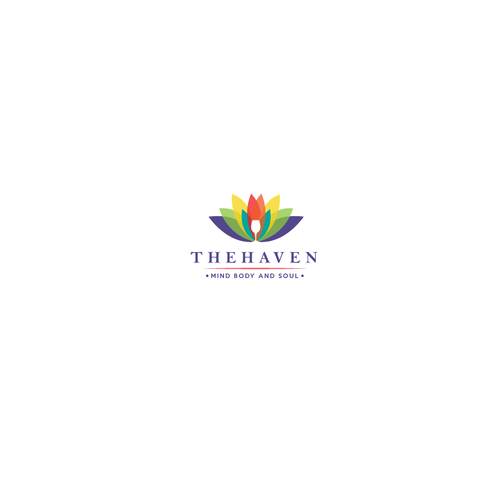 Wine glass logo with the title 'THE HAVEN'