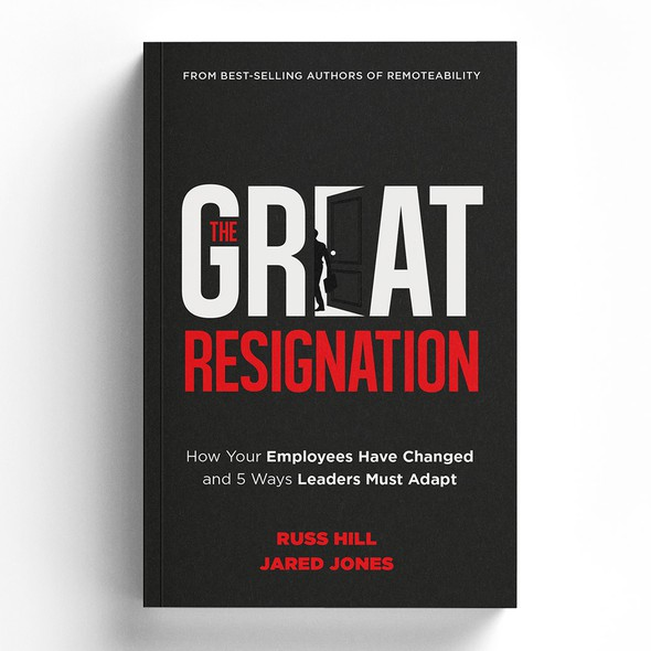Bold design with the title 'The Great Resignation'