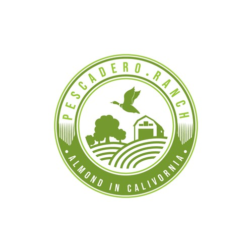 Almond logo with the title 'Pescadero Ranch'