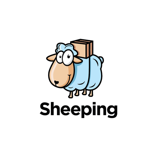 Sheep logo with the title 'Narrative logo design'
