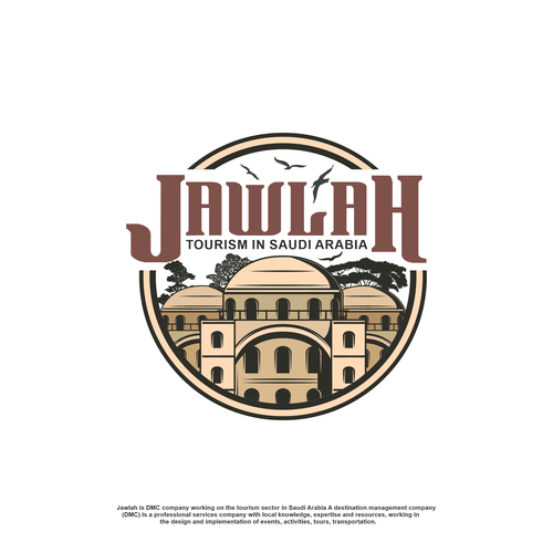 Egyptian logo with the title 'JAWLAH'
