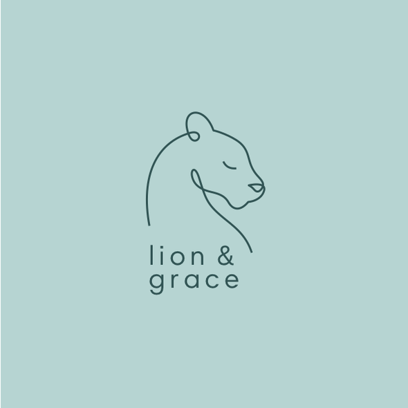 Lifestyle logo with the title 'Logo for Lion and Grace'