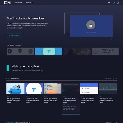 Digital media design with the title 'Online video on demand platform'