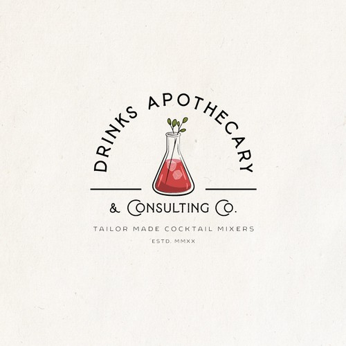 Glass logo with the title 'Logo Design for Drinks Apothecary'