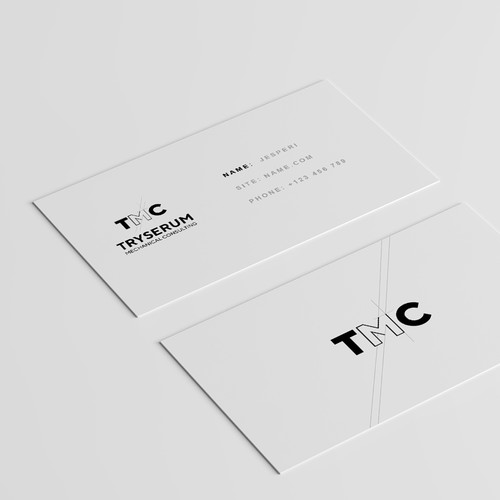 Mechanical design with the title 'Logo and Business cards for BMC Conpany'
