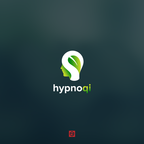 Head logo with the title 'Bold logo for hypnoqi'