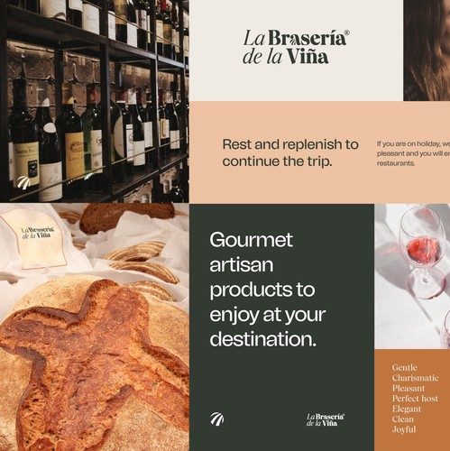 Restaurant design with the title 'Brand Identity for a Spanish restaurant chain'