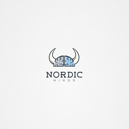 Nordic logo with the title 'Clean nordic logo'