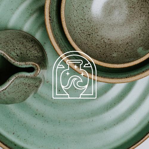 Ceramic logo with the title 'Ceramic Studio Logo - Searamics'
