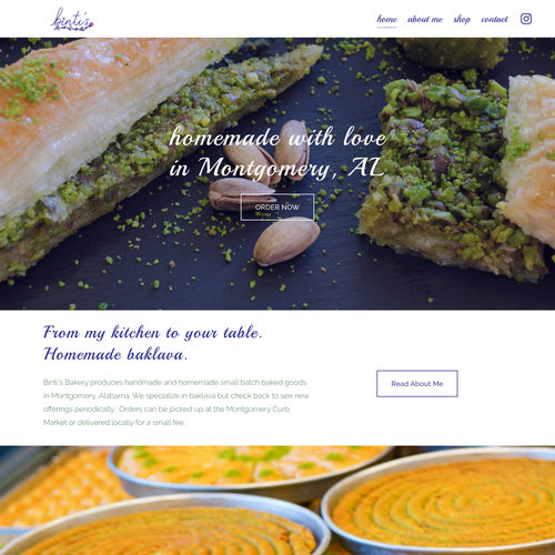 HTML website with the title 'New Delicious Clean Design For Bakery'