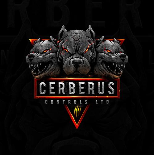 Metallic logo with the title 'Cerberus Controls Ltd'