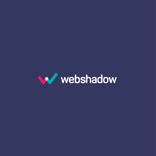W design with the title 'Webshadow logo'