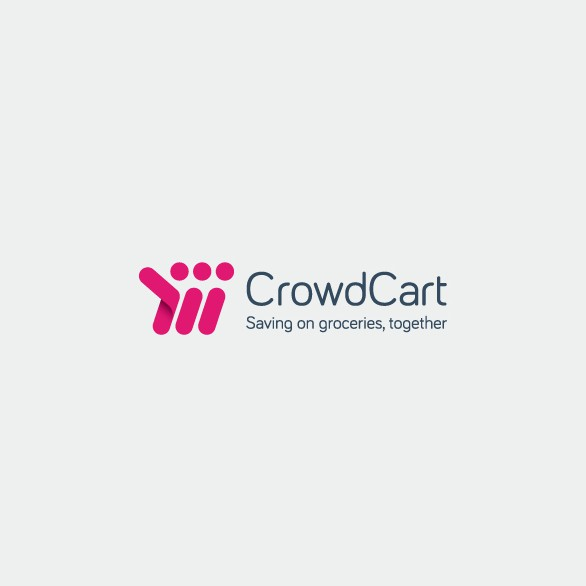 Shopping cart design with the title 'modern logo for shopping app'