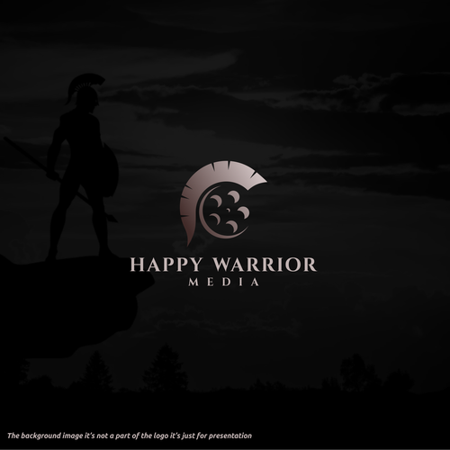 Film production logo with the title '***Available unused design. Please send me a message if you're interested ***Happy Warrior'