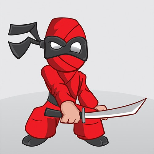 Ninja illustration with the title 'Enter the Ninja'