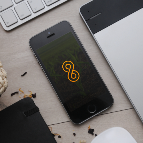 3D infinity logo with the title 'Simple and Clean logo for AMBER8'
