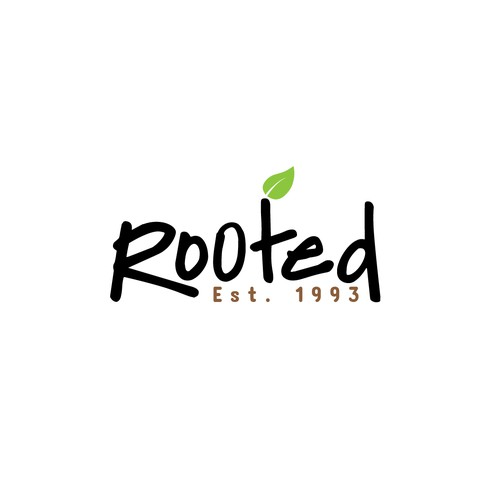Black and green logo with the title 'Logo for Rooted'