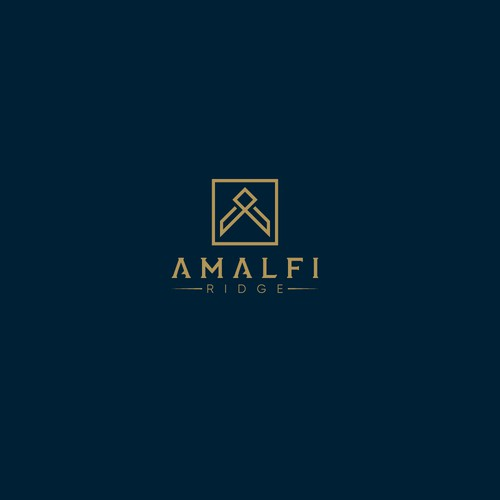 Ridge design with the title 'Sophisticated Logo For AMALFI'