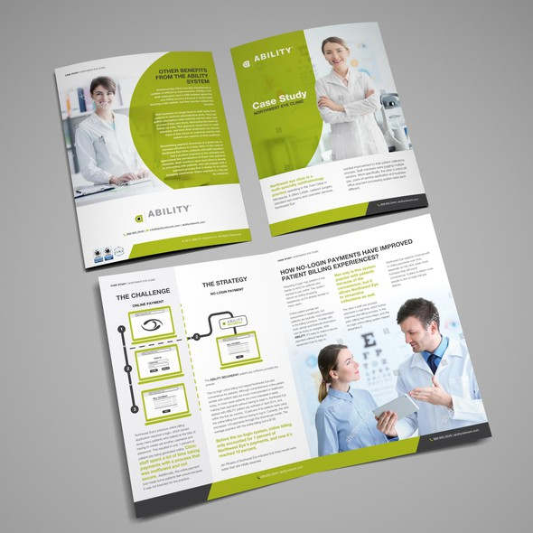 Case study design with the title 'Case Study for Ability'