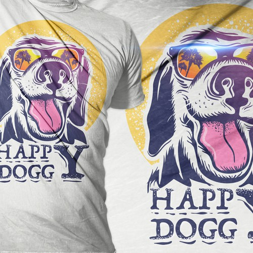Fun t-shirt with the title 'happy doggy tshirt project'