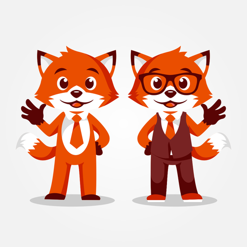Office design with the title 'Orange Fox'