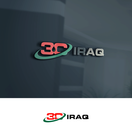 Gas logo with the title ' A logo for 3C Iraq construction and services company in Iraq.'