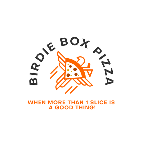 Pizza box design with the title 'Modern and fun logo concept for Pizza'