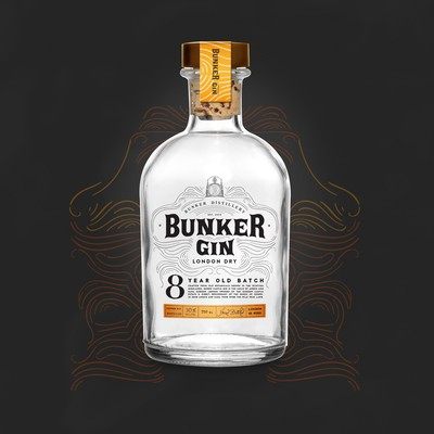 Bunker Gin Branding + Label Design