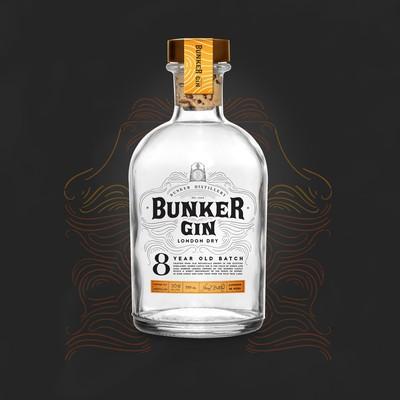 Bunker Gin Branding + Label Design