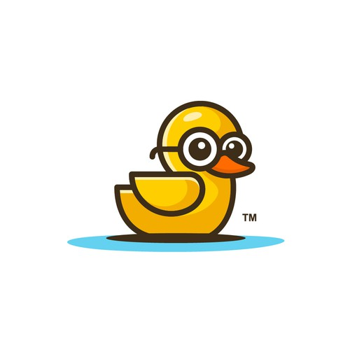 Sunglasses logo with the title 'Playful Youthful Logo Concept for BathroomDuck'