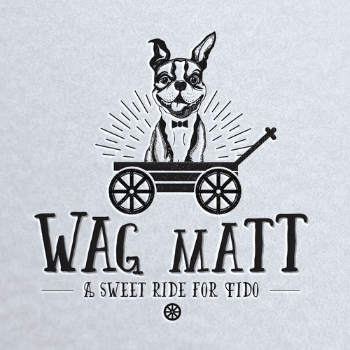 Wagon logo with the title 'Logo design for a new pet product. '