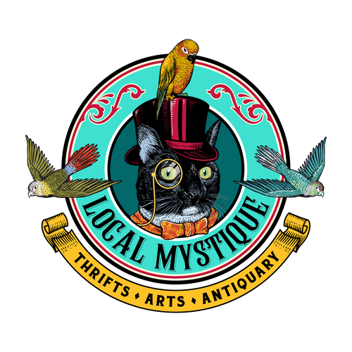 Sketch logo with the title 'Local Mystique'
