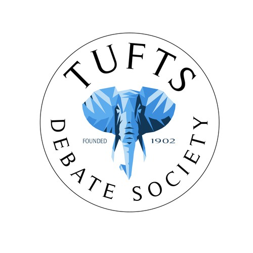 College logo with the title 'Tufts University Debate Society Logo Entry'