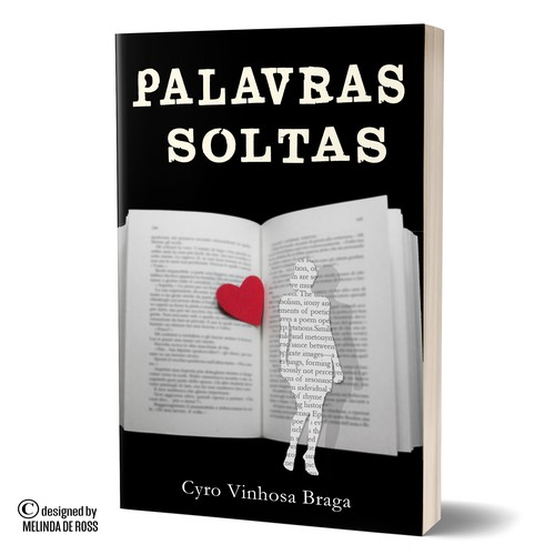Conceptual book cover with the title 'Palavras soltas'