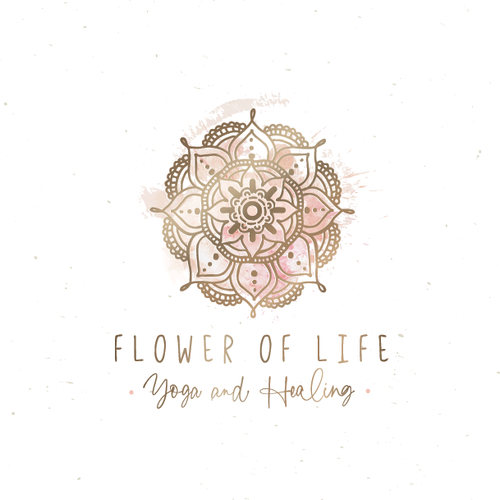 Natural logo with the title 'flower of life'