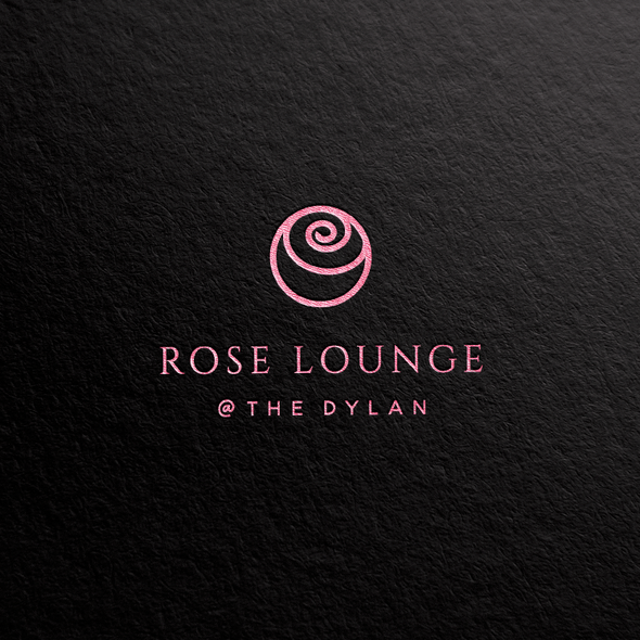 Abstract rose logo with the title 'Rose lounge logo'
